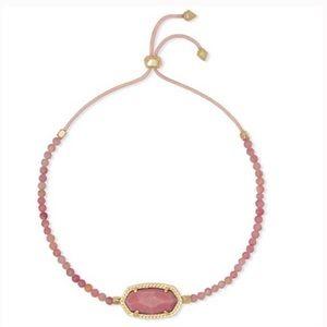 Kendra Scott Elaina Bracelet Gold Pink Rhodonite